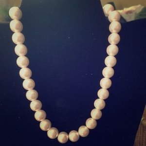 Oversized pale pink beads